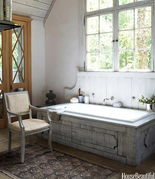 Mix and chic beautiful rustic room ideas for Rustic farmhouse bathroom ideas
