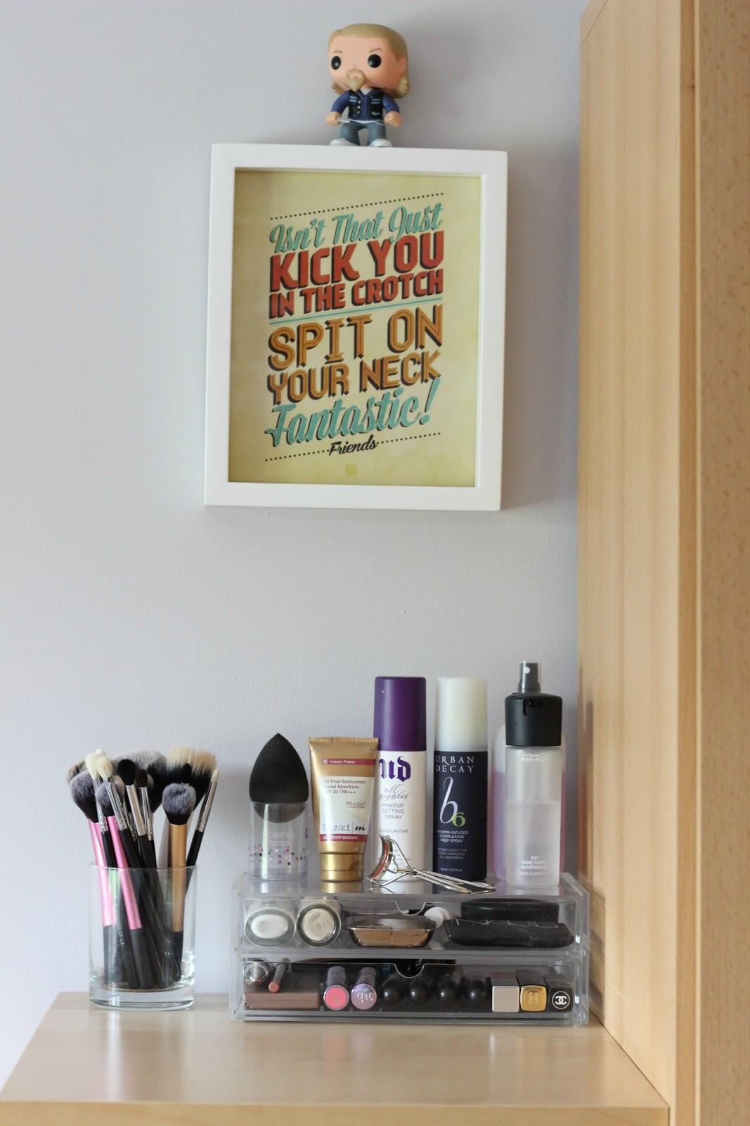 My Vanity Area- The Muji Drawers