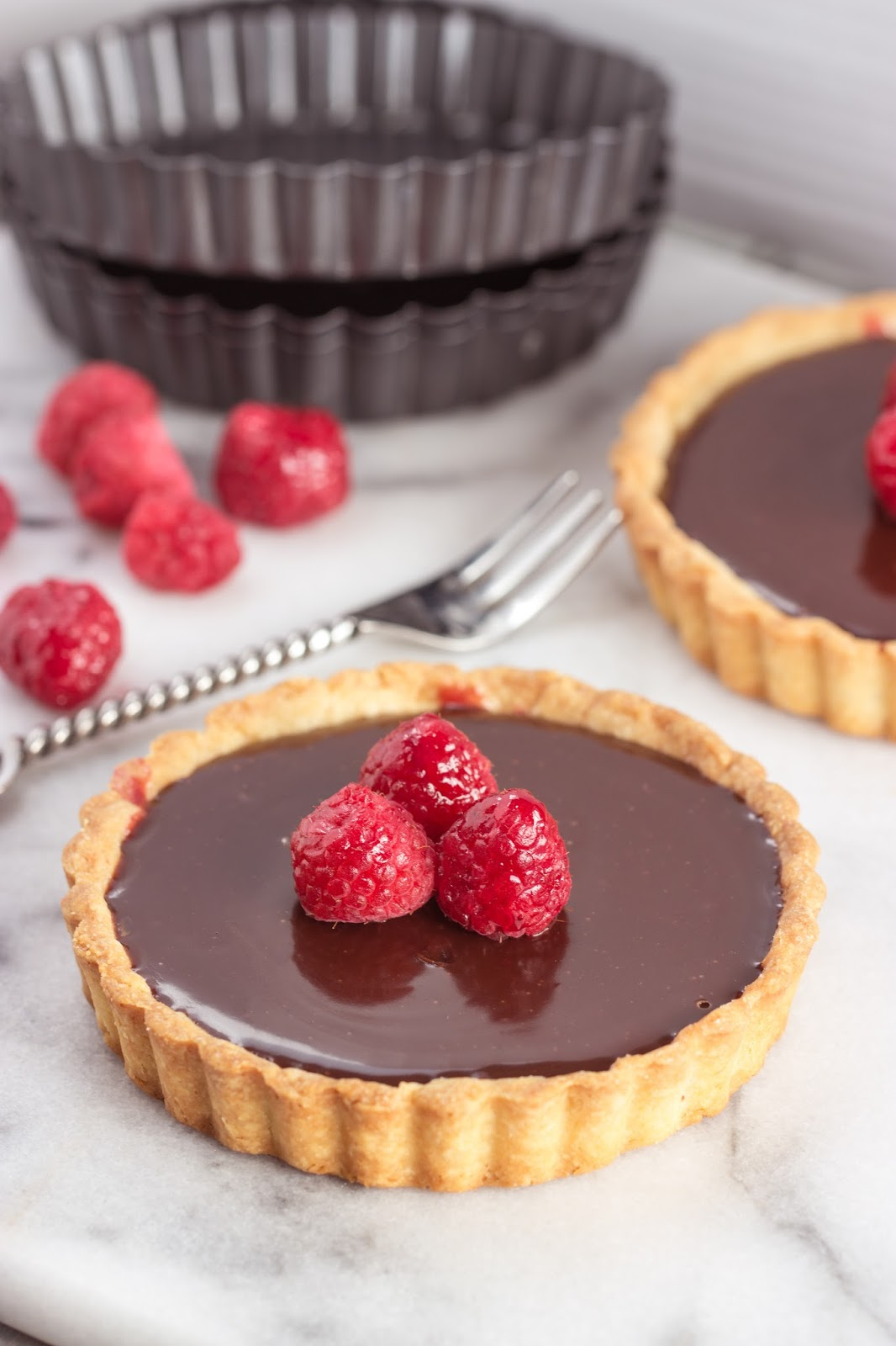 Raspberry Truffle Tart | Cooking on the Front Burner #chocolatetart