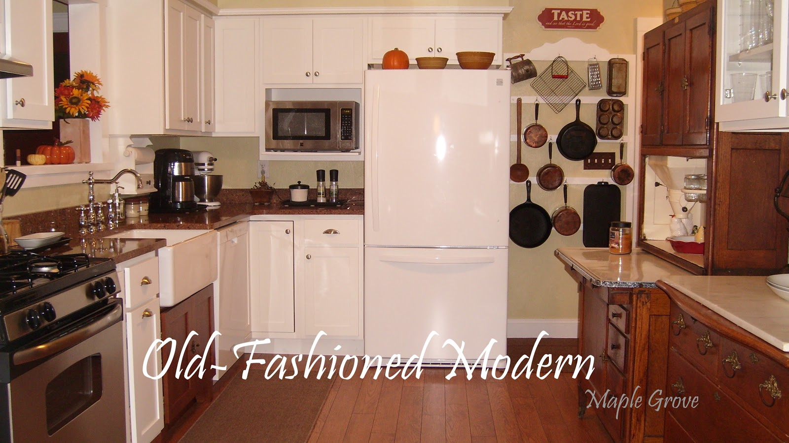 OldFashioned Farm Kitchen Cabinets