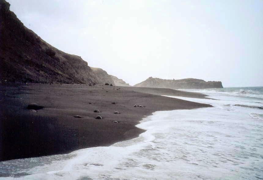 O vulcão e o mar