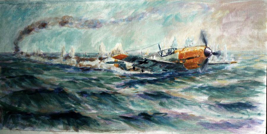 Batalla de Inglaterra - Amerizaje en el Canal - Hans-Joachim Marseille