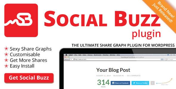 Social Buzz WordPress Plugin – Social Share Graphs