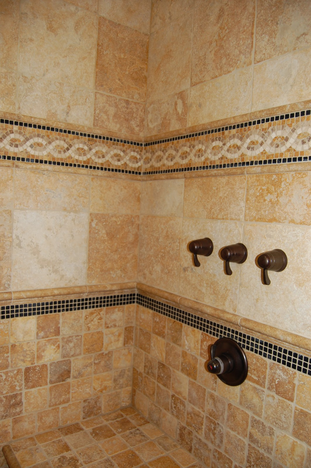 Creative tile designs for Travertine tile designs