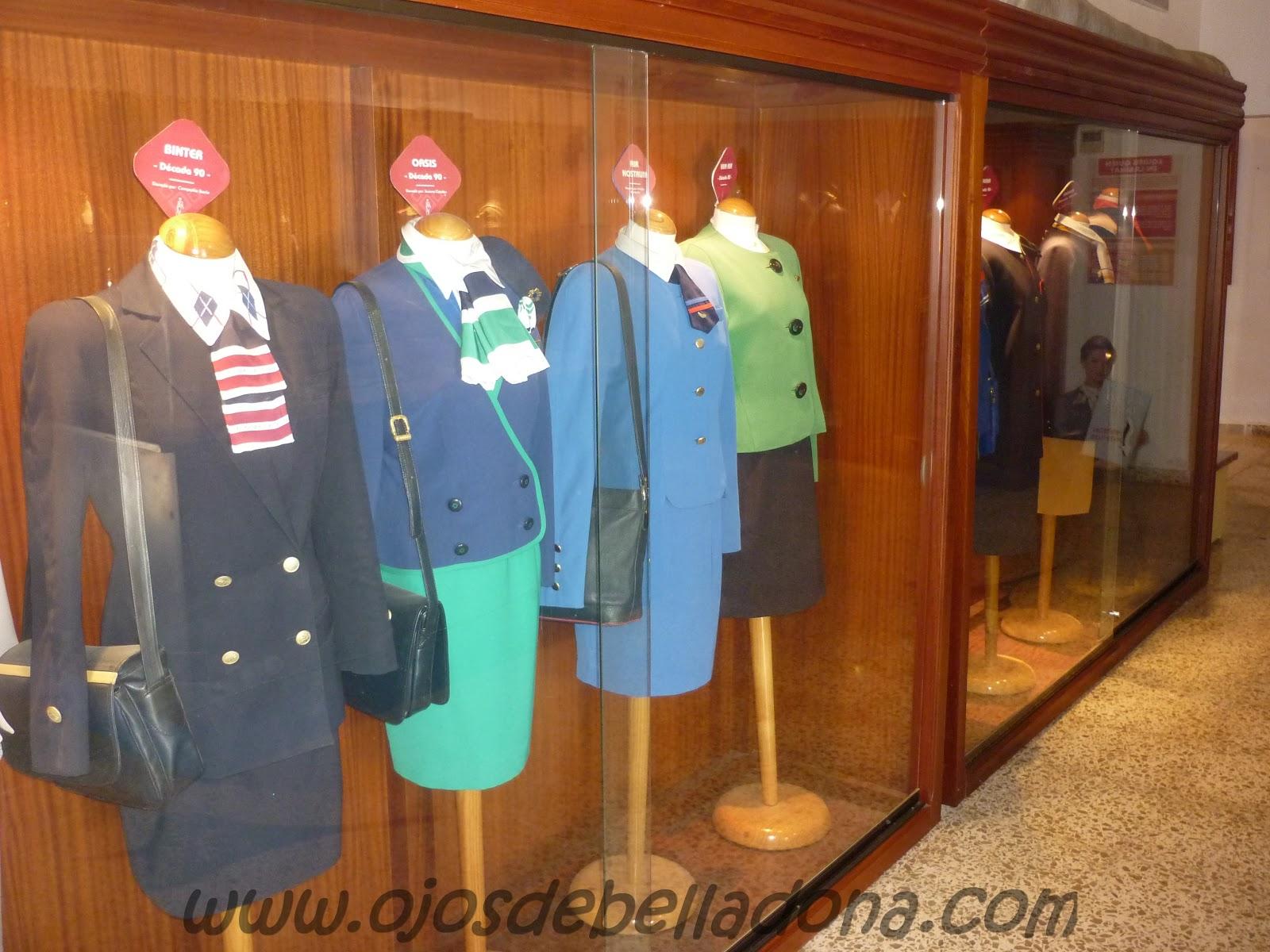 Uniformes azafatas, Museo de la Aviación Málaga