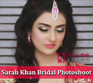 Famous Pakistani Actress Sarah Khan's Latest Bridal Photoshoot, She Looks Gorgeous!