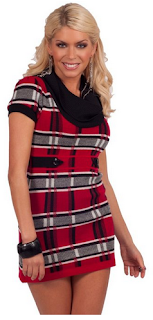 red black and grey sweater dress for women