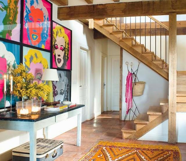 Casa de s tio com decora o colorida e apaixonante for Decoracion retro pop
