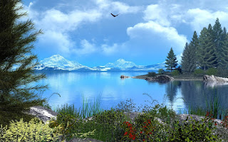 beautiful natural lake view