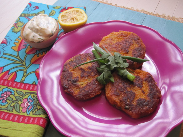 really loved these sweet potato cakes. For me, it was all about the ...