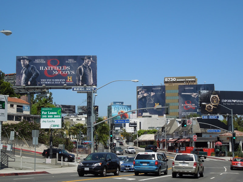 Hatfields McCoys History Channel billboards Sunset Strip