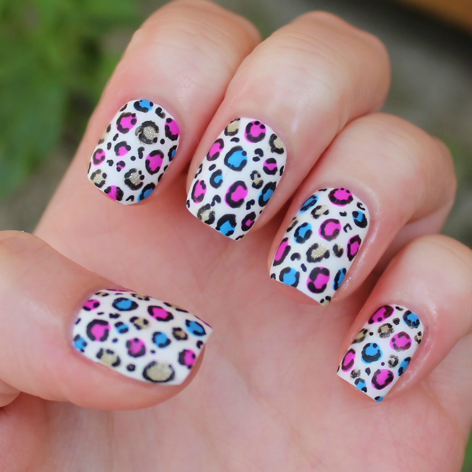 Dahlia Nails Ravenclaw Nail Art: Dahlia Nails: Festival Leopard
