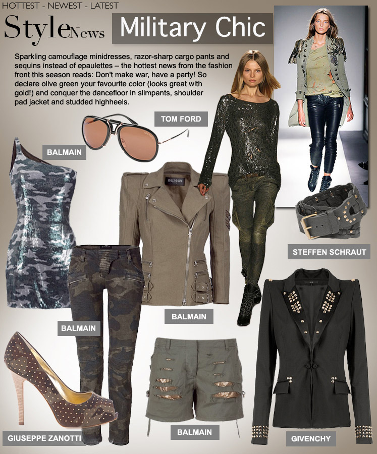 Military trend chic recommend dress in autumn in 2019