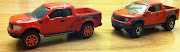 Diecast face off maisto V.S matchbox ford F150 raptor
