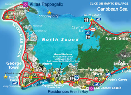 Grand Cayman Island Map