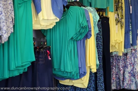 Splash of colour - What I saw from the door, Shanton fashion, Hastings photograph