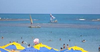 Imagens das praias de Porto de Galinhas