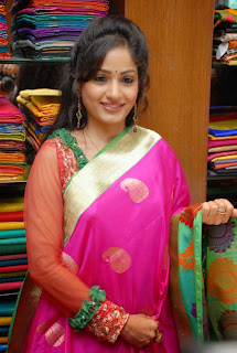 Actress Madhavi Latha Pictures in Salwar Kameez at Sreeja Fashions South Silk Festival 2013 Launch 0013.jpg