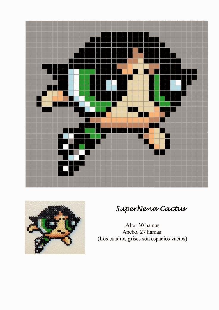 Powerpuff Girls Hama Beads Pattern post by wememade