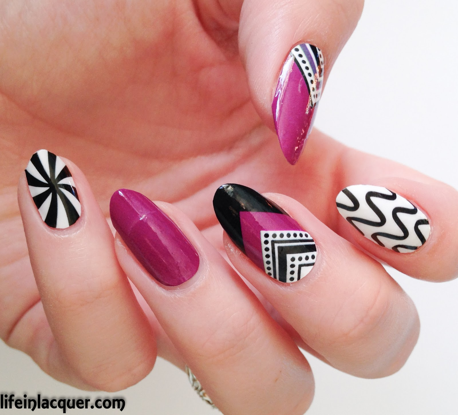OMG nail strips Geometric design stickers