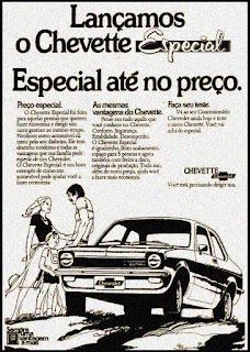 propaganda Chevette Especial - 1975
