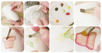 Platos pintados a mano DIY