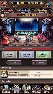 Screenshots of the Battle monsters for Android tablet, phone.