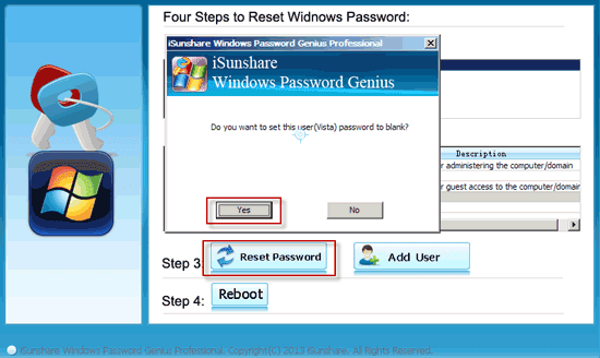reset windows vista forgotten password
