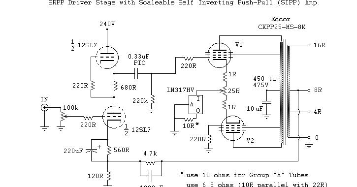 Kt88 Tube Power Amplifier Class A Circuit