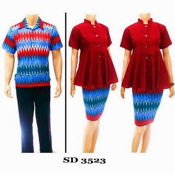 Baju Batik Pasangan motif rang rang