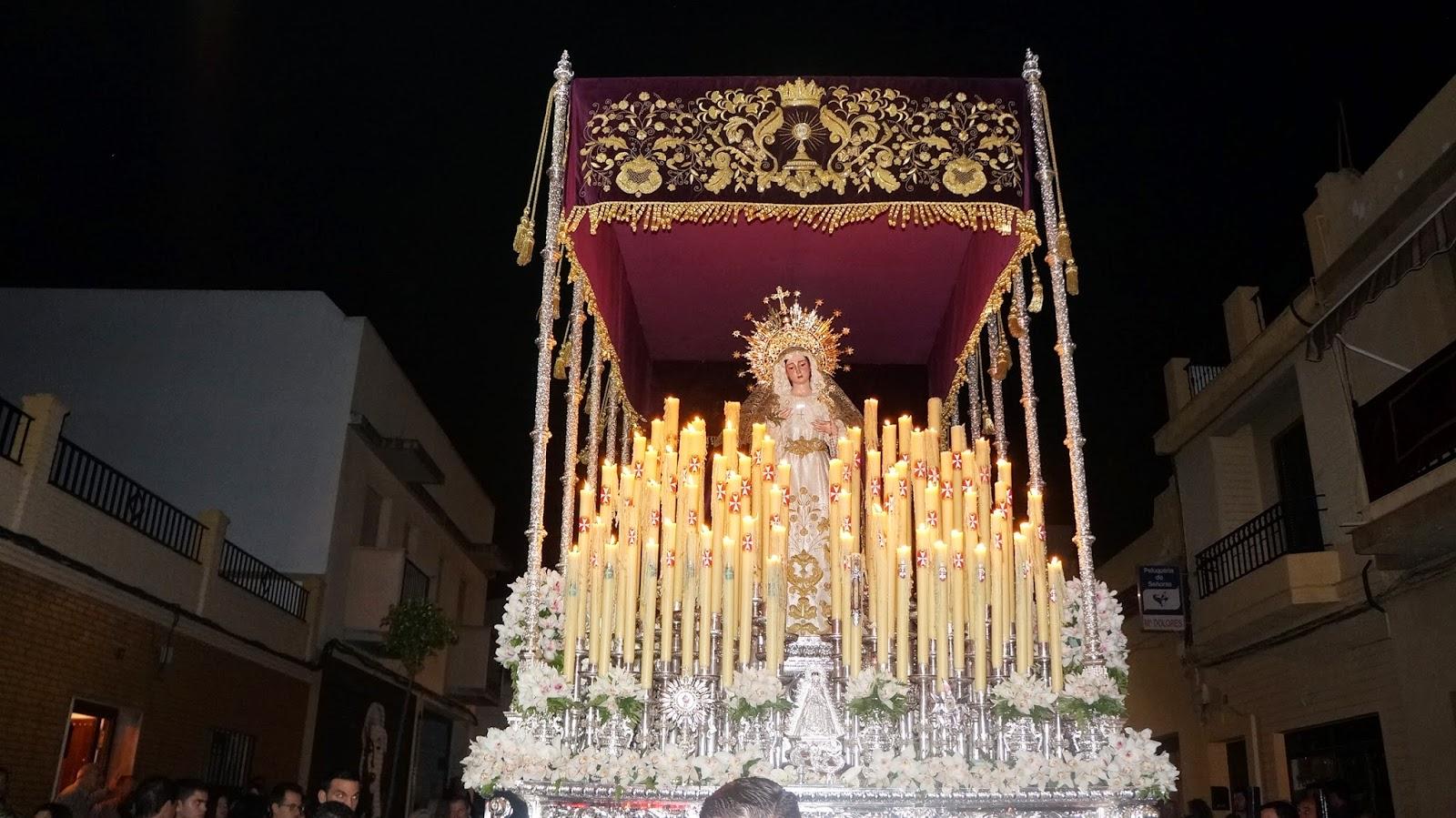 Procesion de la Virgen de Los Dolores en San Juan de Aznalfarache