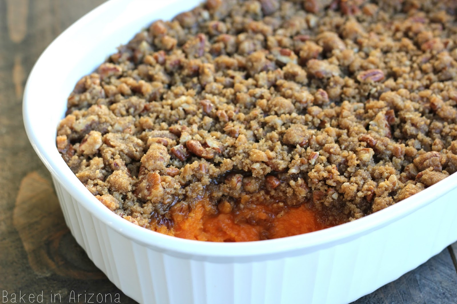 Sweet Potato Casserole - Baked in AZ