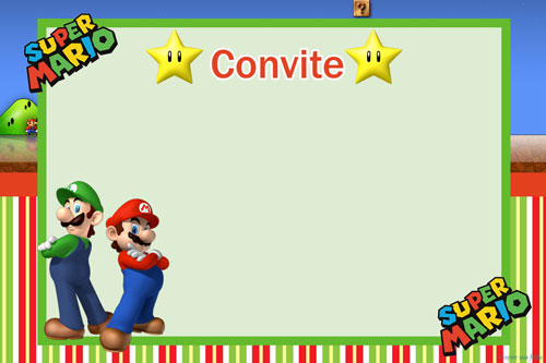 Super Mario Bros Party Free Printable Invitations Oh My Fiesta – Mario Party Invitations