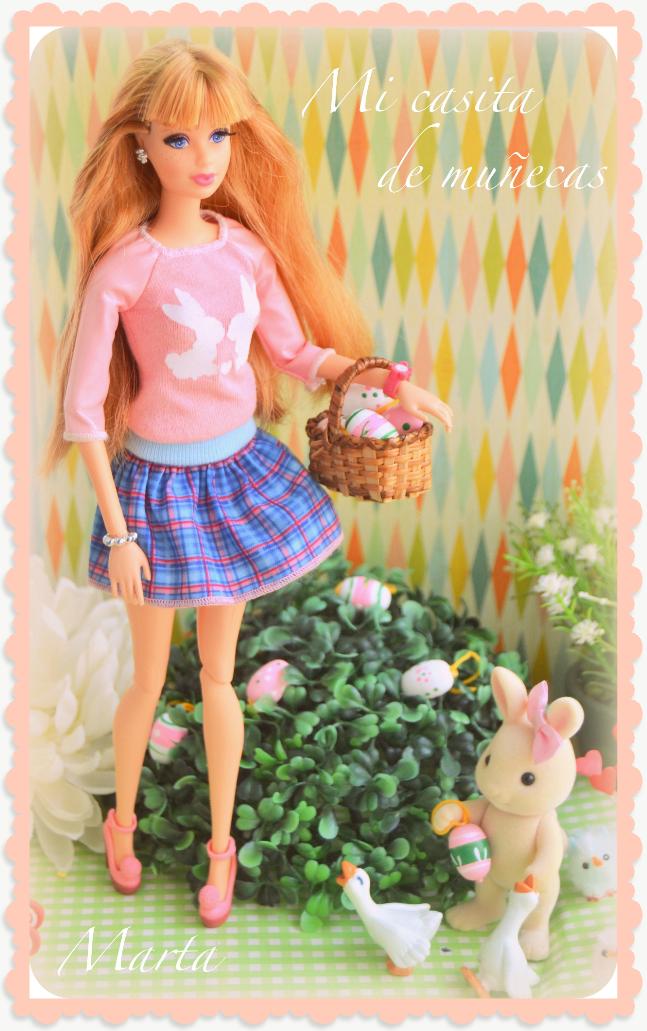 Felices Pascuas. Happy Easter. Barbie Midge Style.