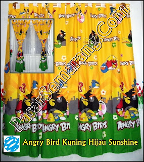 Jual Tirai Jendela Angry Bird Jual Hordeng Kartun Lucu