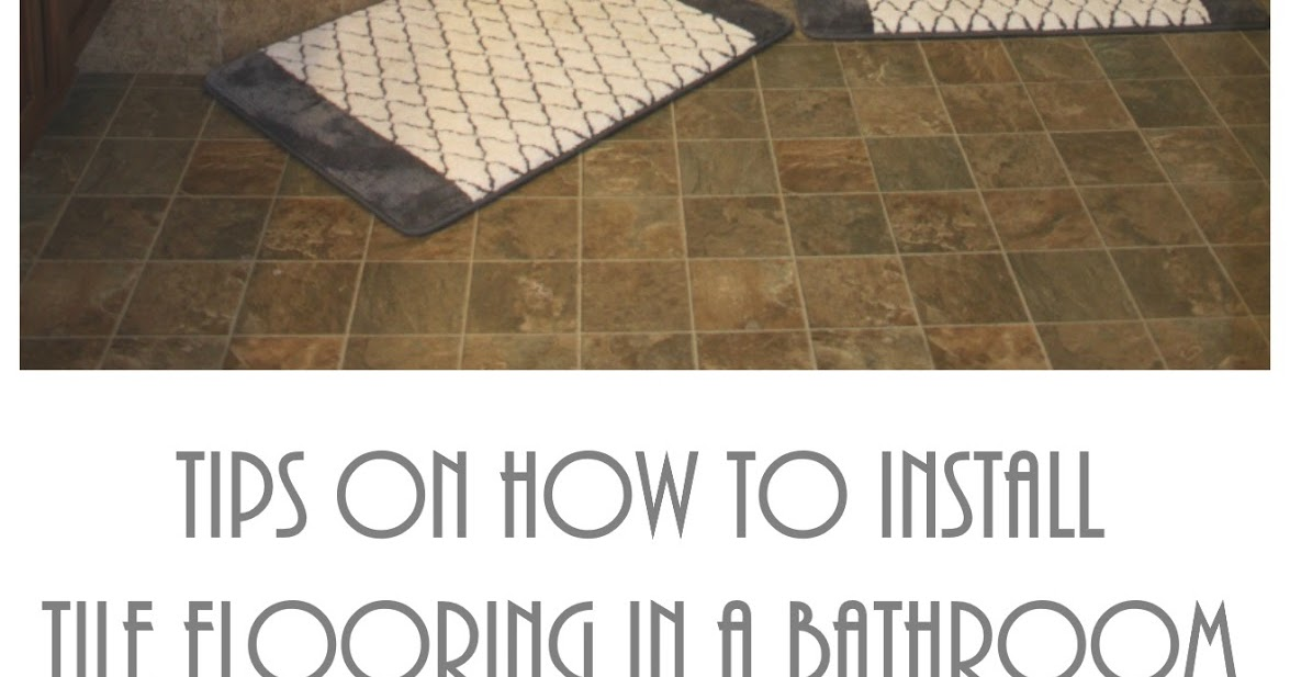How to lay tile in a bathroom