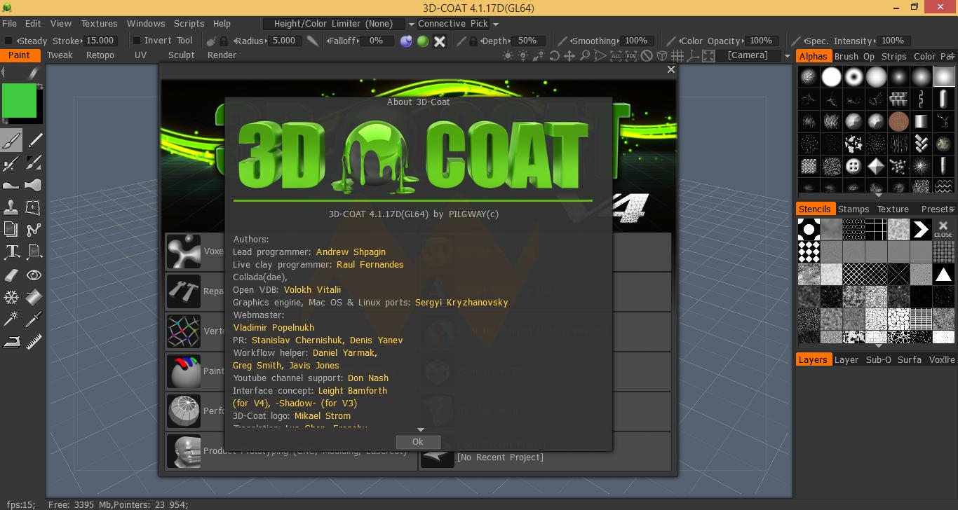 3D-Coat 4.1.17D