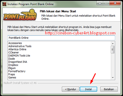 Free Download dan Cara Install Game Point Blank Online