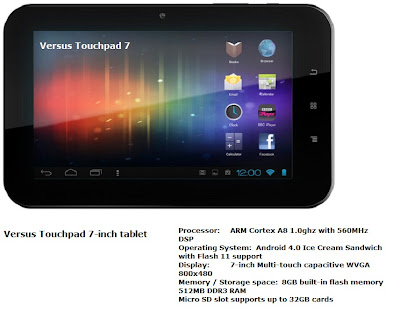 Versus Touchpad 7-inch tablet