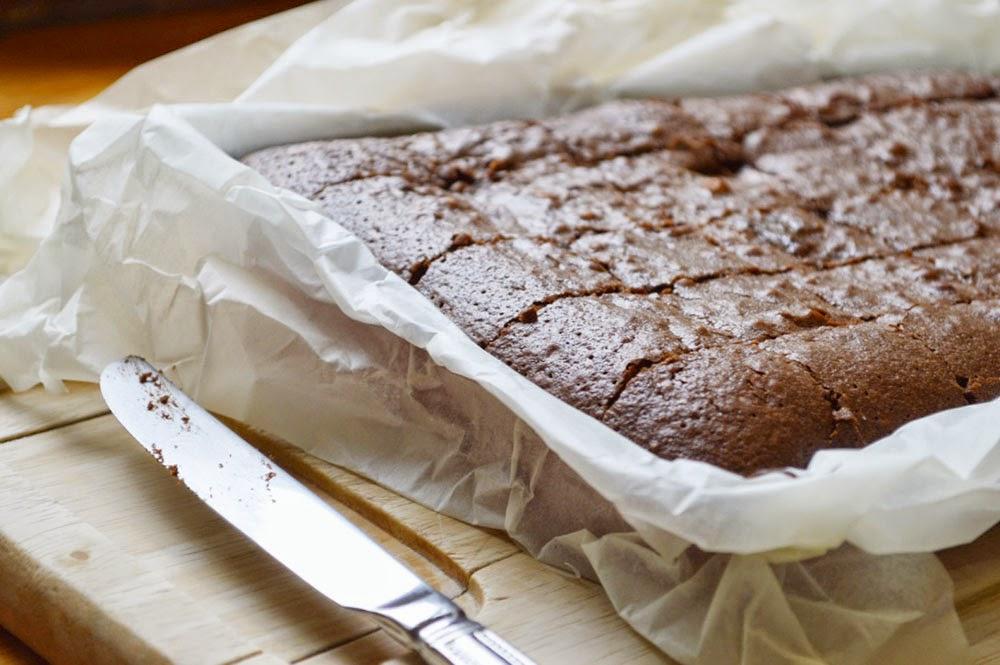 Crispy topped chocolate brownie bake