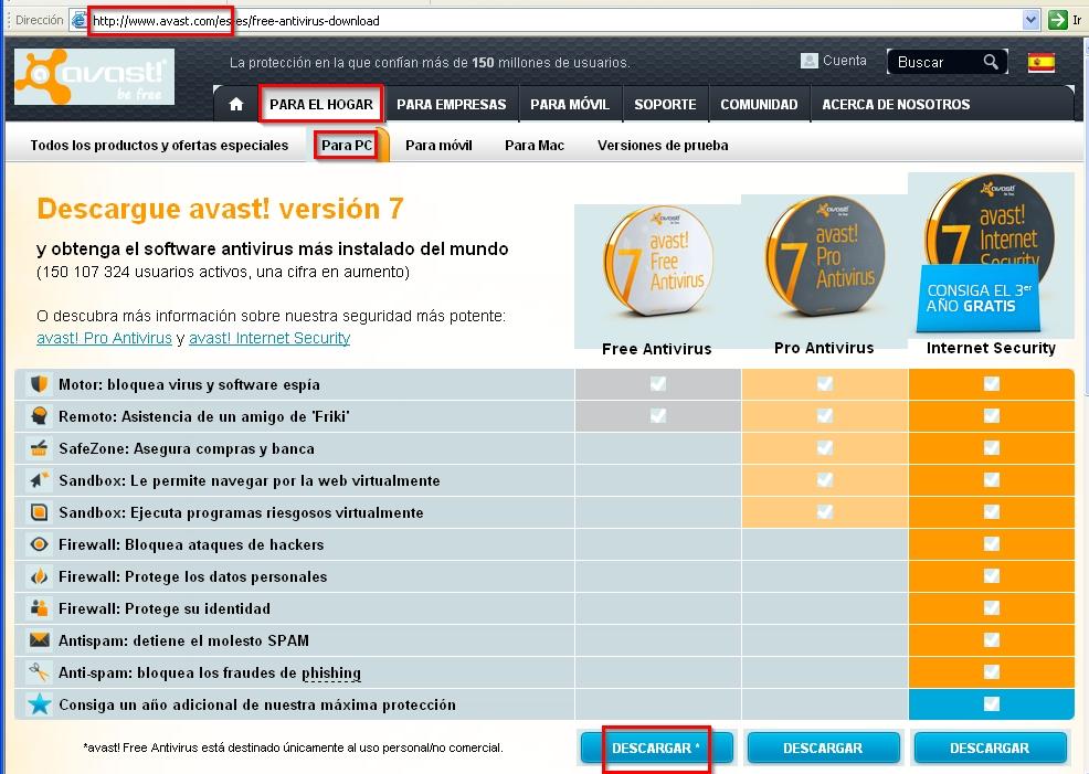 antivirus gratis avast para windows xp