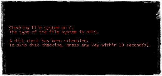 ภาพ Windows 7 CHKDSK