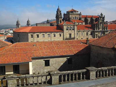 Roof of the cathedral of Santiago de Compostela
