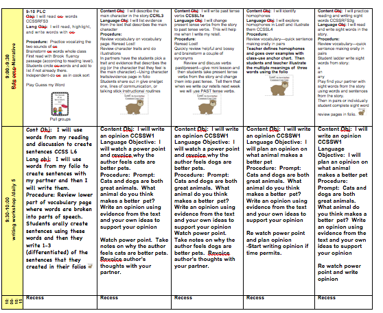 free first grade lesson plans