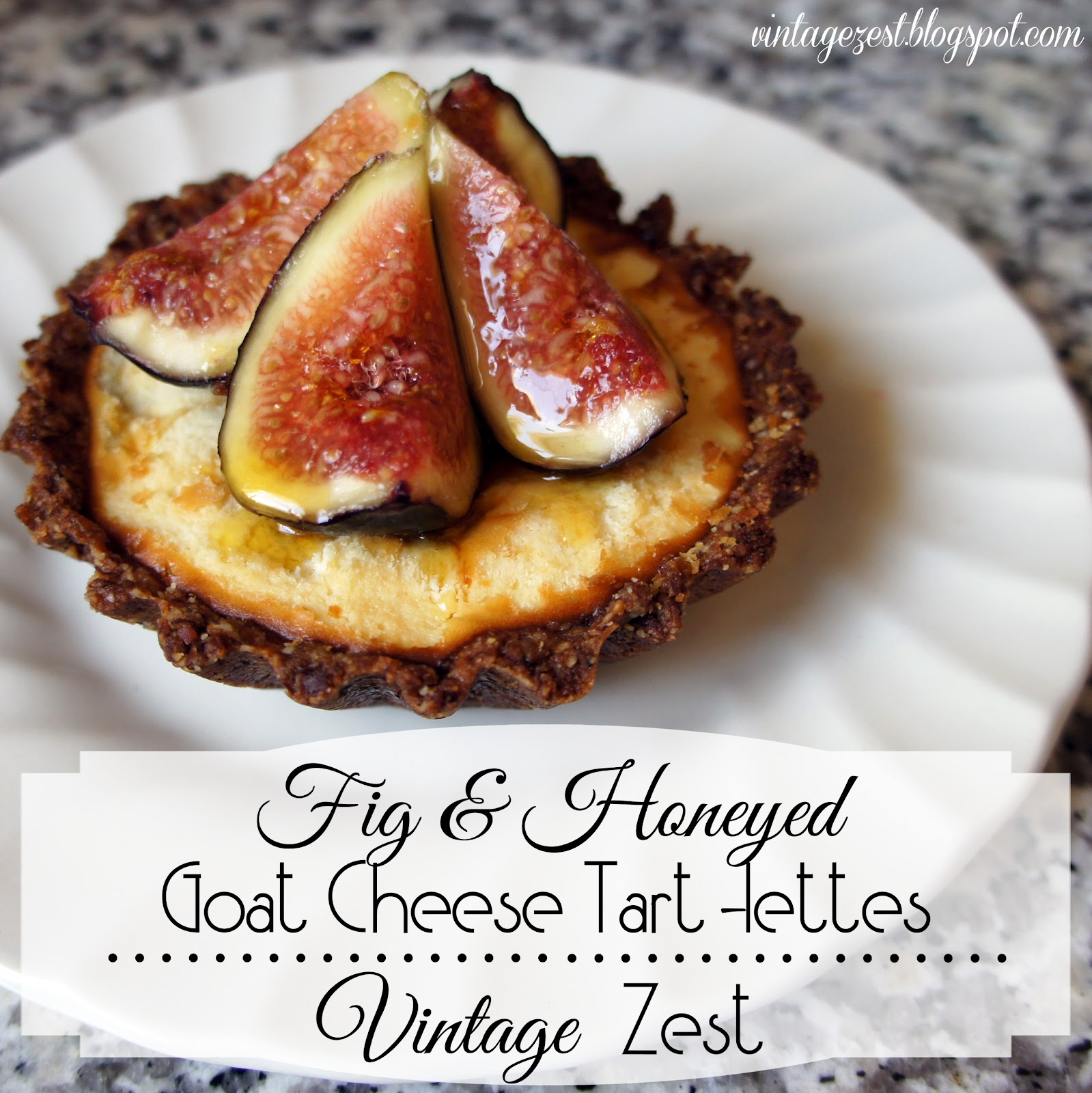 Honeyed Fig And Goat Cheese Tart Recipe — Dishmaps