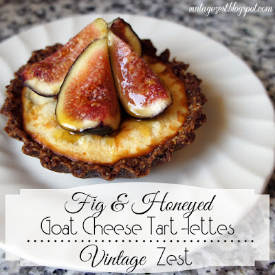 fig & honeyed goat cheese tart-lettes