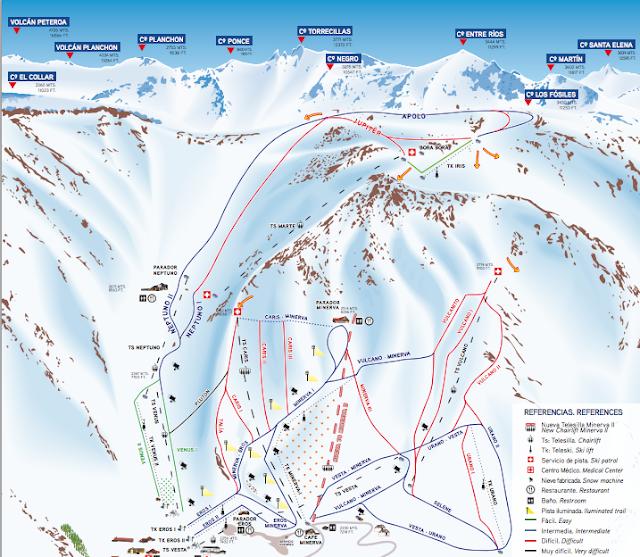 las lenas trail map