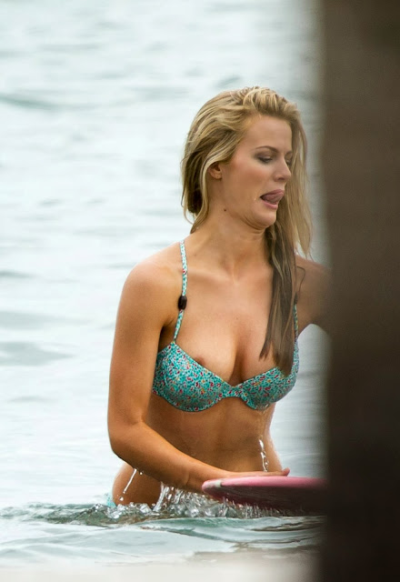 Brooklyn Decker Bikini Nipple Slip Candids During Photoshoot In Miami