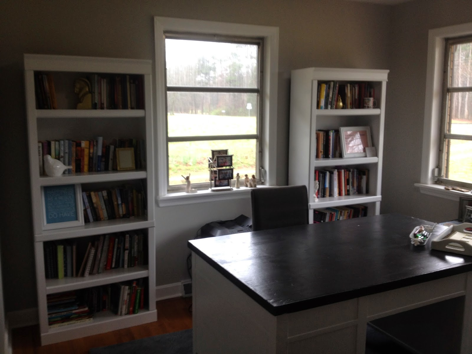 Marvelous photograph of Blissfully Chic DIY: Painting Laminate Bookshelves Dark to Bright! with #797152 color and 1600x1200 pixels