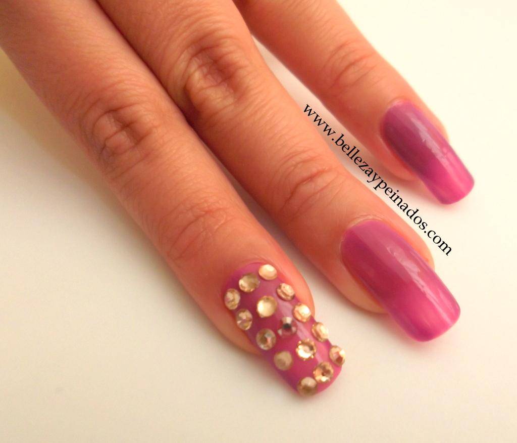 Moda style for Unas decoradas con piedras de cristal